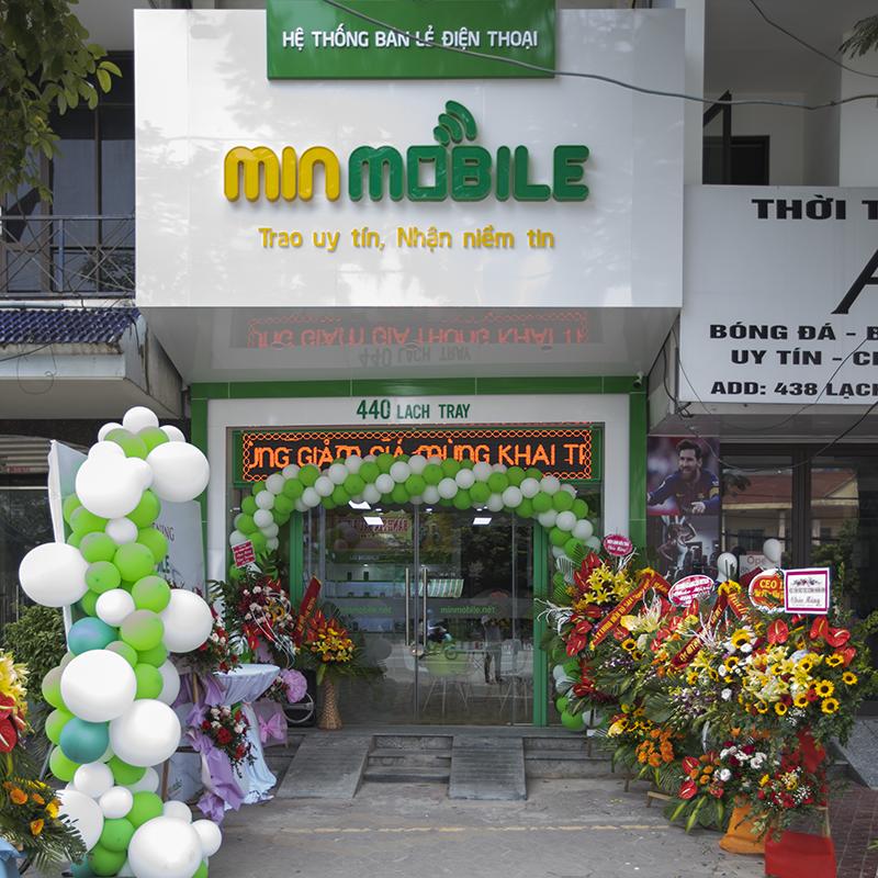 Cửa hàng MinMobile tại 440 Lạch Tray khai trương hồi tháng 10/2019
