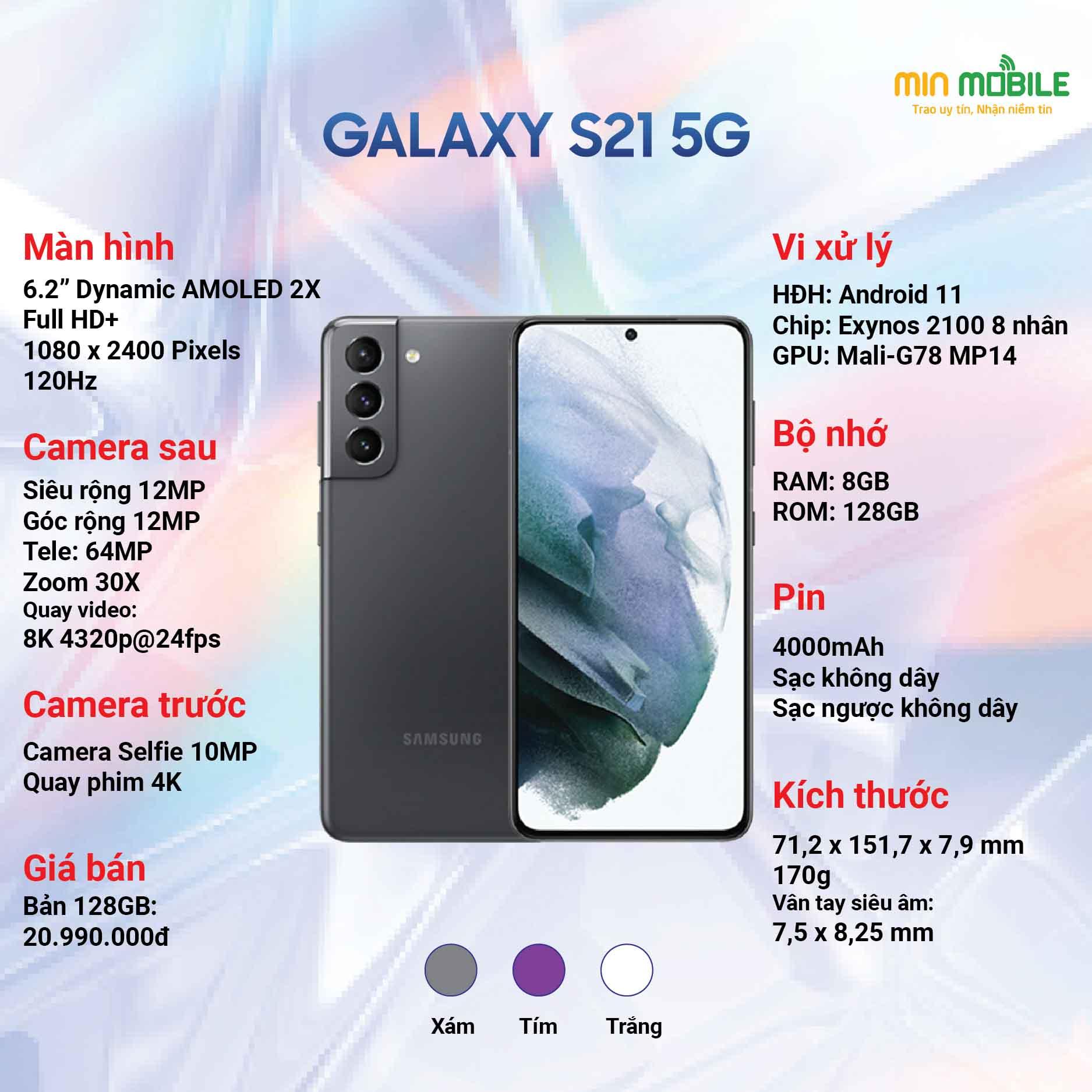 Cấu hình Samsung Galaxy S21 5g