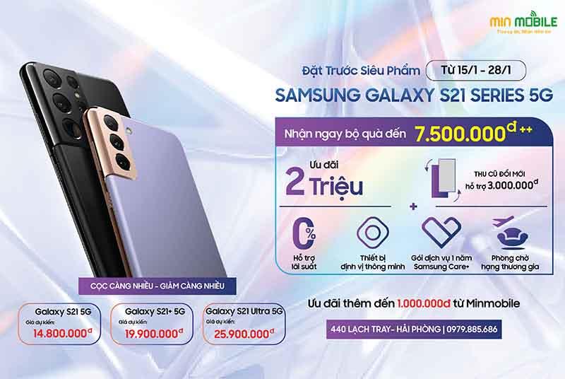 Đặt hàng Galaxy S21 5G chính hãng, giá rẻ tại Minmobile