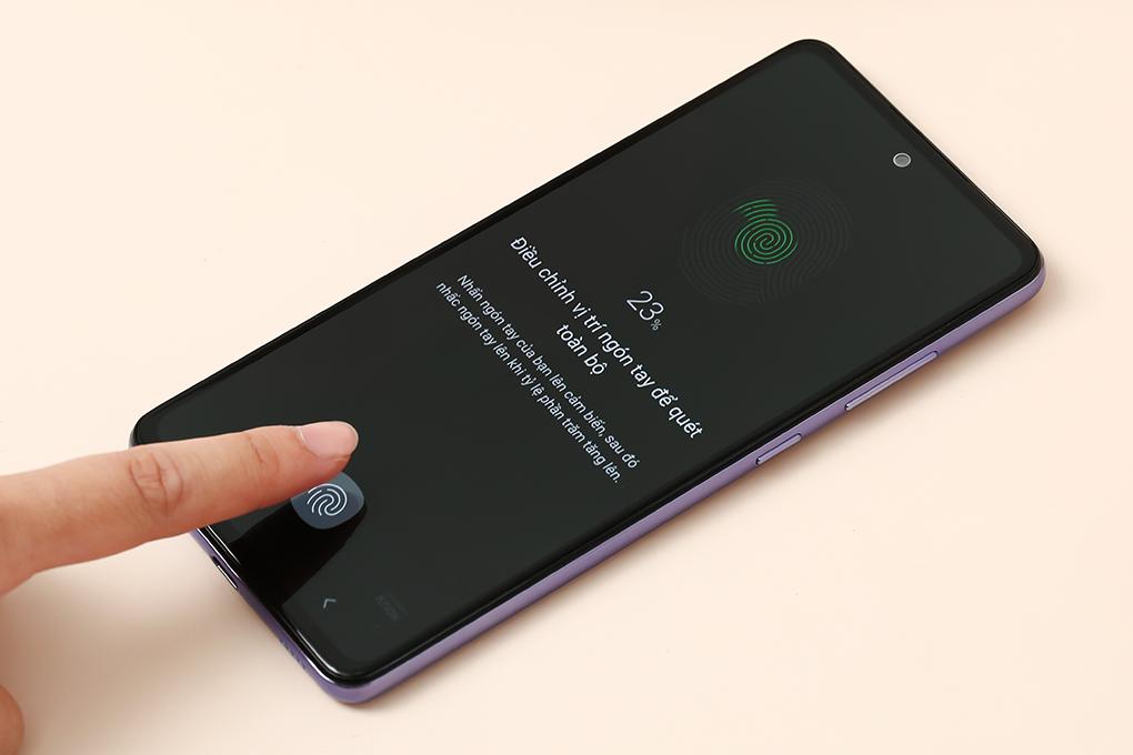 Cảm biến vân tay trên Galaxy A52