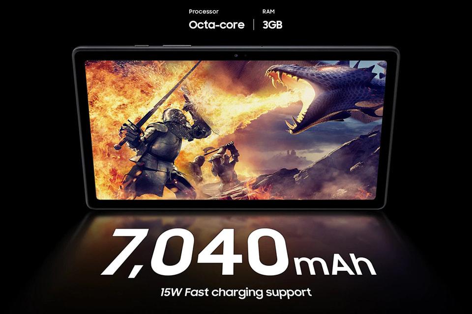 Dung lượng pin 7040mAh của Galaxy Tab A7 chính hãng