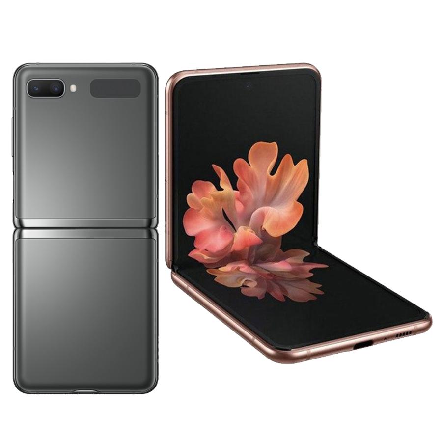 2 màu xám, đồng của Samsung galaxy z flip 5g hàn quốc