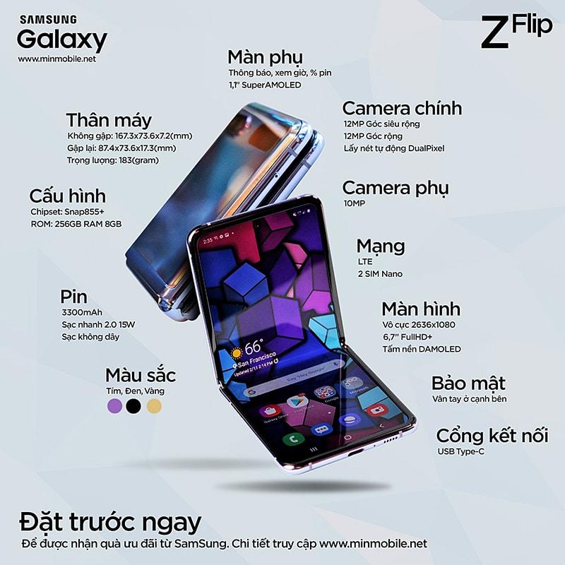 Galaxy Z Flip xách tay Hàn Quốc