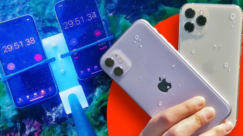 khả năng chống nước của iphone 11