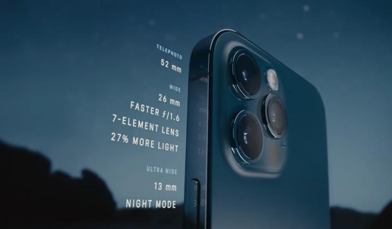 Cụm camera iPhone 12 Pro demo 512Gb