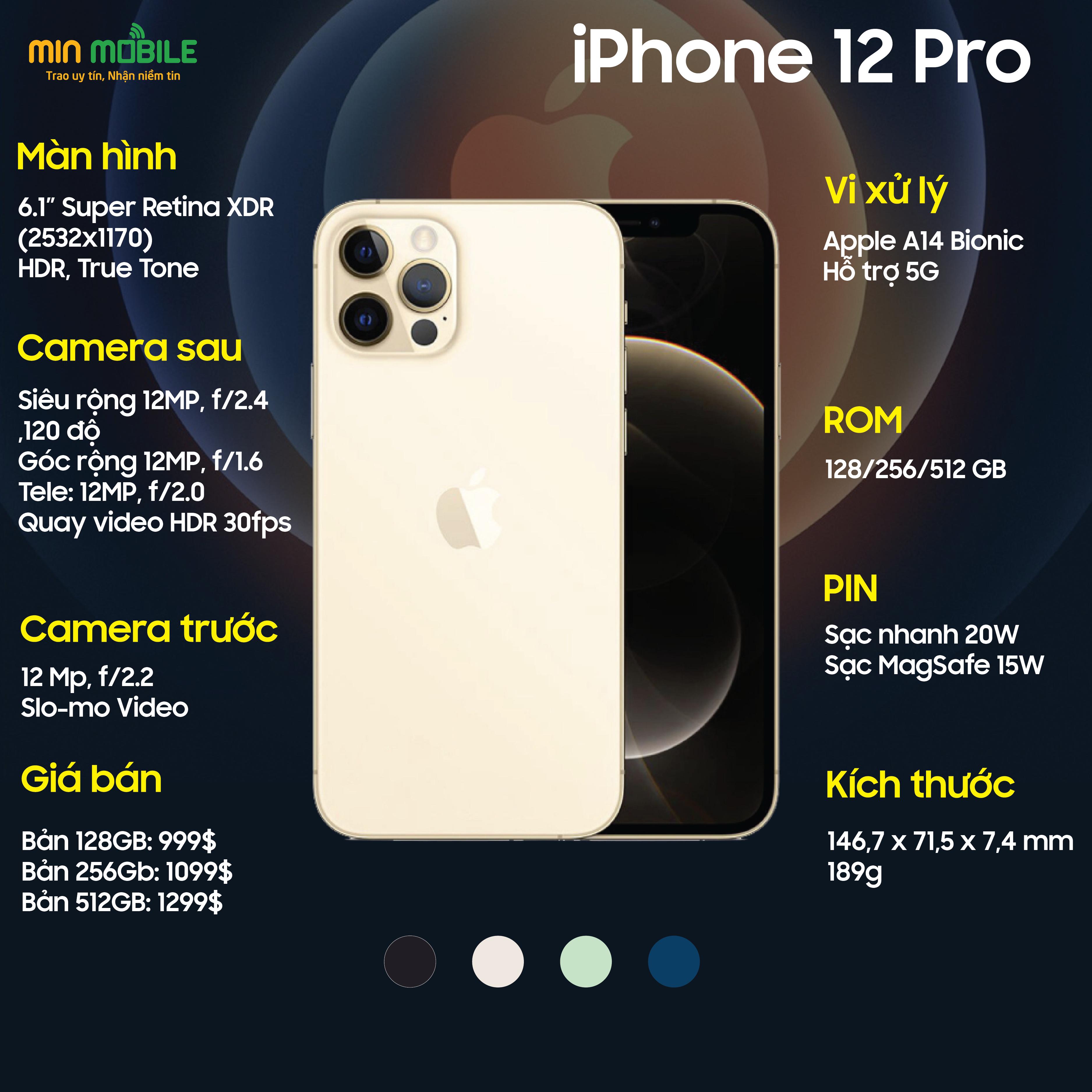 Cấu hình iPhone 12 Pro Demo xách tay hàn quốc