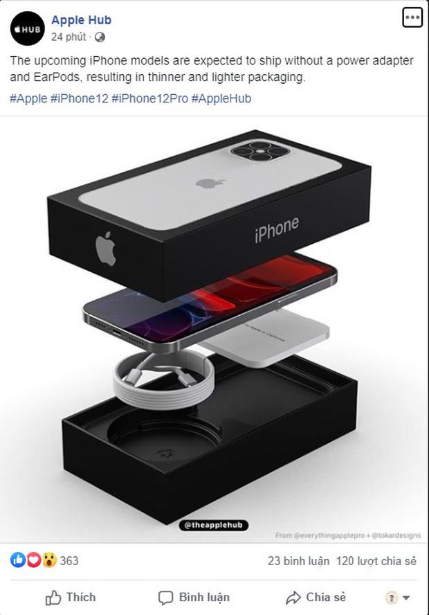 hộp đựng iPhone 12 loại bỏ sạc, tai nghe