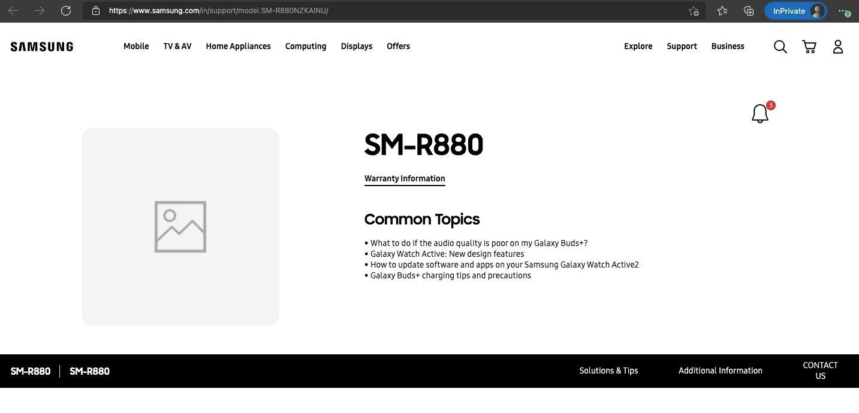 Galaxy Watch 4 xuất hiện trên website của Samsung tại Nga