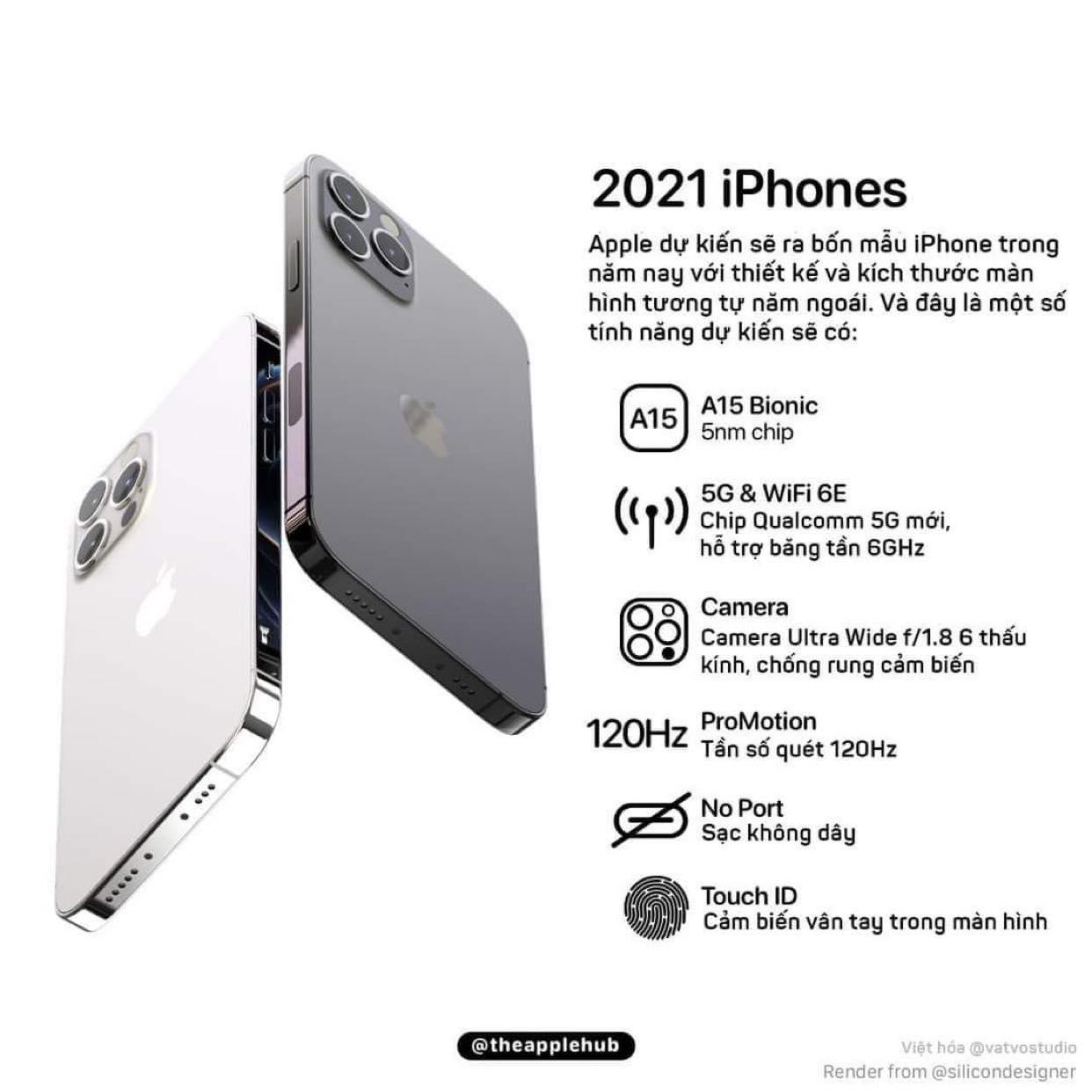 Tiết lộ cấu hình iPhone 13